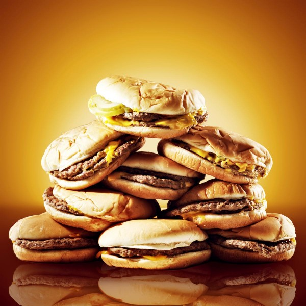 Pile-Of-Fast-Food-Cheese-Hamburgers